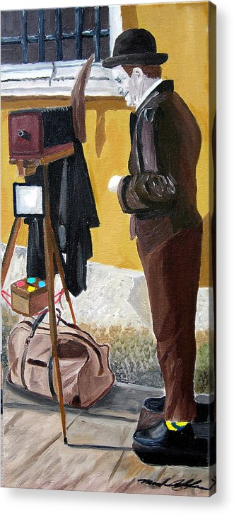 Mime Acrylic Print featuring the painting Portrait Of Identity by Michael Lee