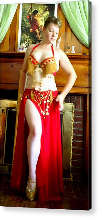 Belly Dancer Acrylic Print featuring the photograph Red Costume by Scarlett Royal