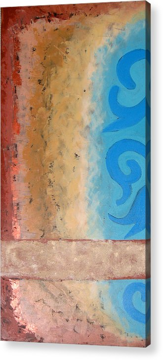 Abstract Acrylic Print featuring the painting Steppe Oasis by Aliza Souleyeva-Alexander