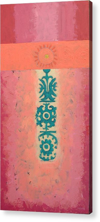 Abstract Acrylic Print featuring the painting Steppe Sun by Aliza Souleyeva-Alexander