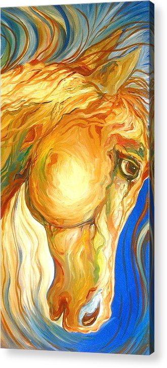 Equine Acrylic Print featuring the painting The Look by Rebecca Robinson