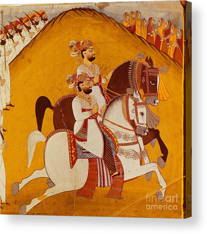 Historical Acrylic Print featuring the photograph 18th Century Indian Painting by George Holton