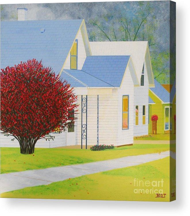 Autumn Acrylic Print featuring the painting Autumn In Nebraska City by Christine Belt