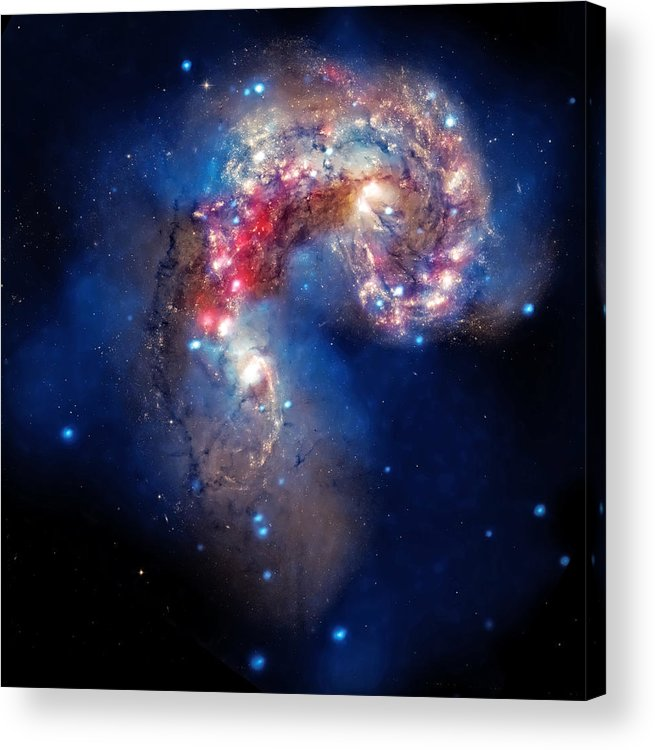 Universe Acrylic Print featuring the photograph Antennae Galaxies Collide 2 by Jennifer Rondinelli Reilly - Fine Art Photography