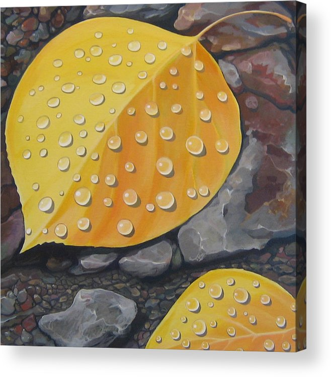 Aspen Acrylic Print featuring the painting Aspen Rain by Hunter Jay