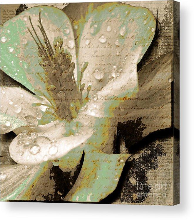 Acrylic Print featuring the mixed media Beauty Vi by Yanni Theodorou