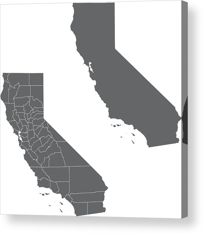 California Map Acrylic Print By Young84