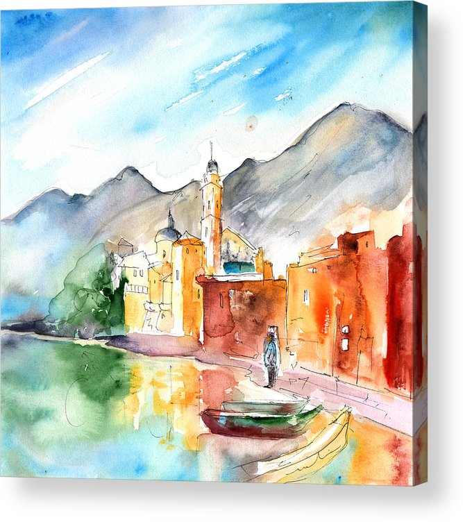 Italy Acrylic Print featuring the painting Camogli In Italy 11 by Miki De Goodaboom