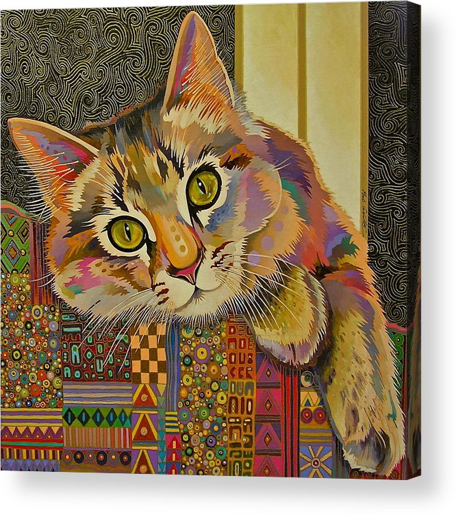 Feline Art Acrylic Print featuring the painting Diego by Bob Coonts