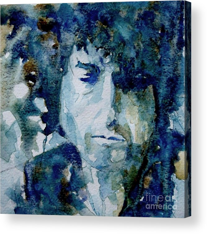 Icon Acrylic Print featuring the painting Dylan by Paul Lovering