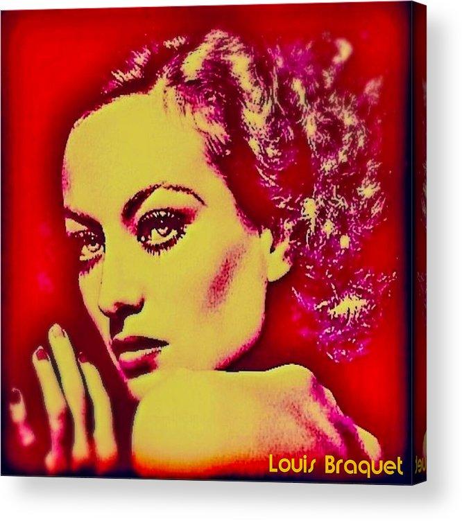 Joan Crawford Acrylic Print featuring the digital art Joan Crawford by Louis Braquet