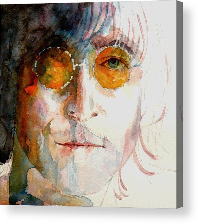 John Lennon Acrylic Print featuring the painting John Winston Lennon by Paul Lovering