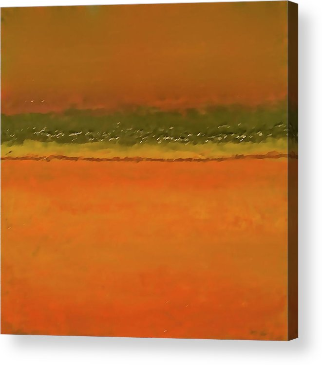 Square Acrylic Print featuring the painting Nfs Sunset Hues by Jim Ellis