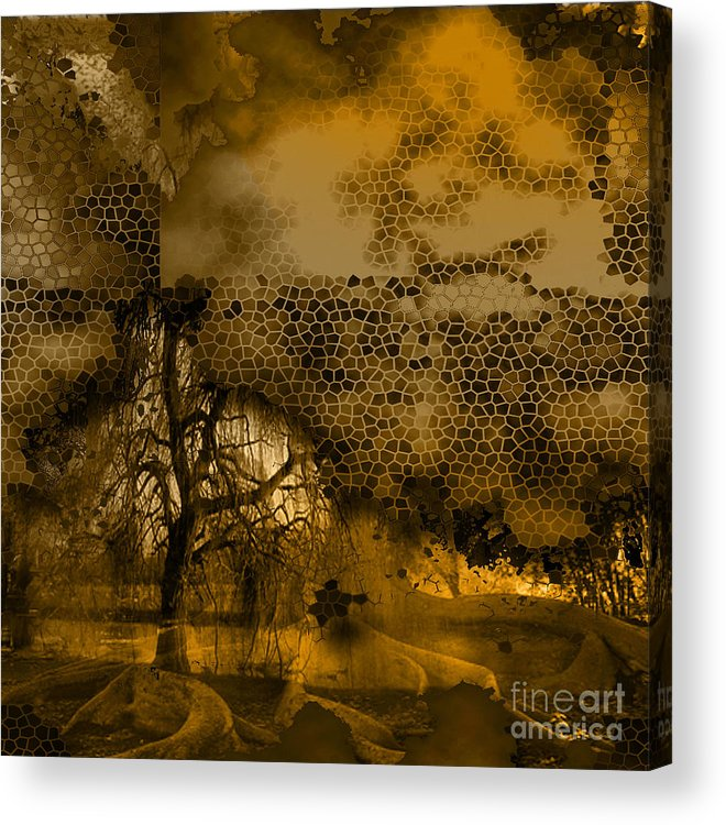 Acrylic Print featuring the mixed media Peer by Yanni Theodorou