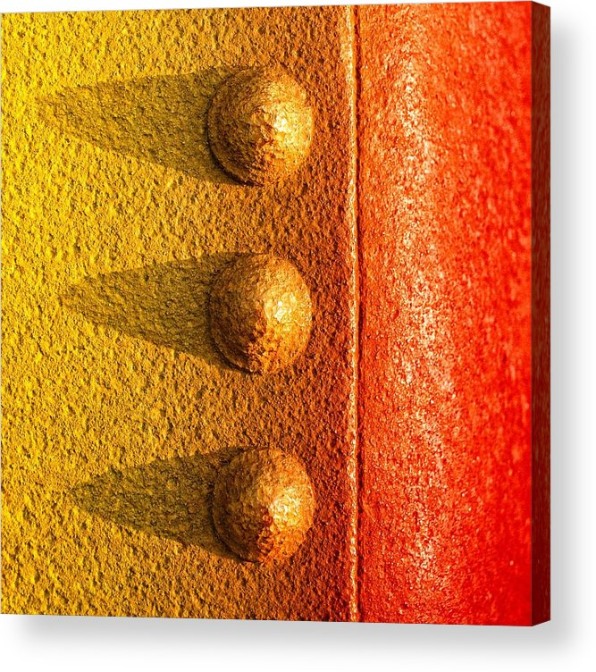 Raw Steel Acrylic Print featuring the photograph Raw Steel by Tom Druin