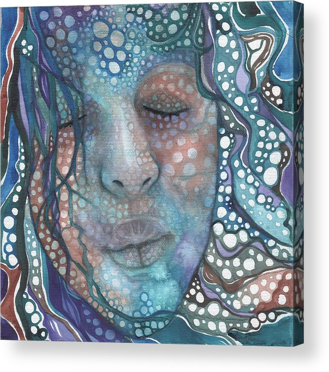 Sea Foam Acrylic Print featuring the painting Sea Foam by Tamara Phillips