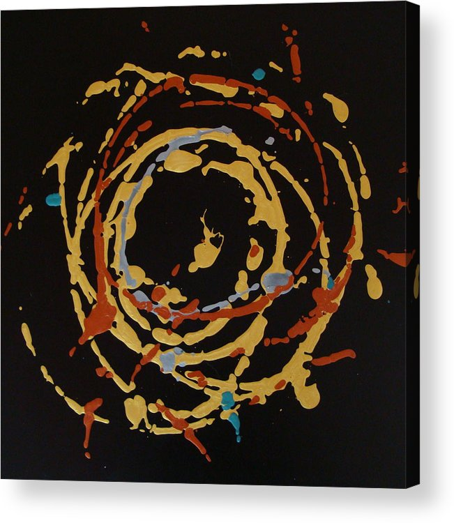 Abstract Acrylic Print featuring the painting Solaris by Holly Picano