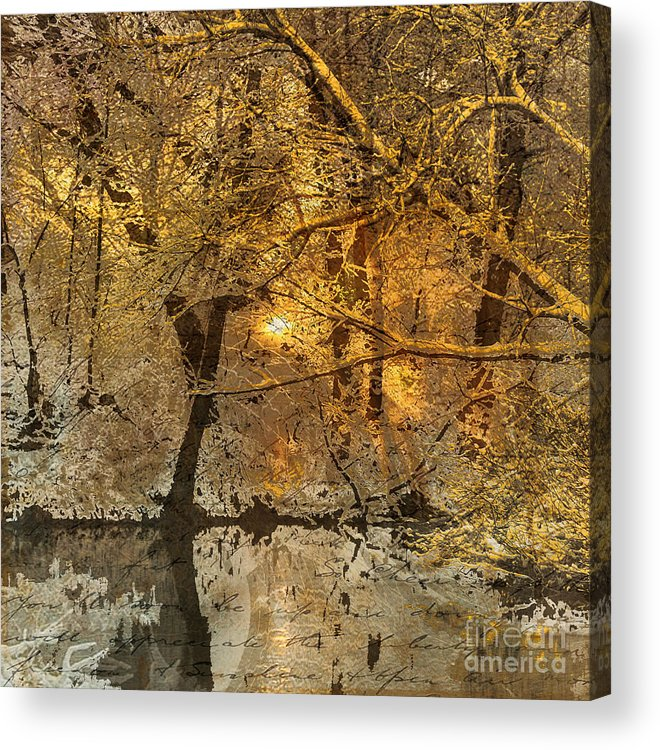 Acrylic Print featuring the mixed media Time II by Yanni Theodorou