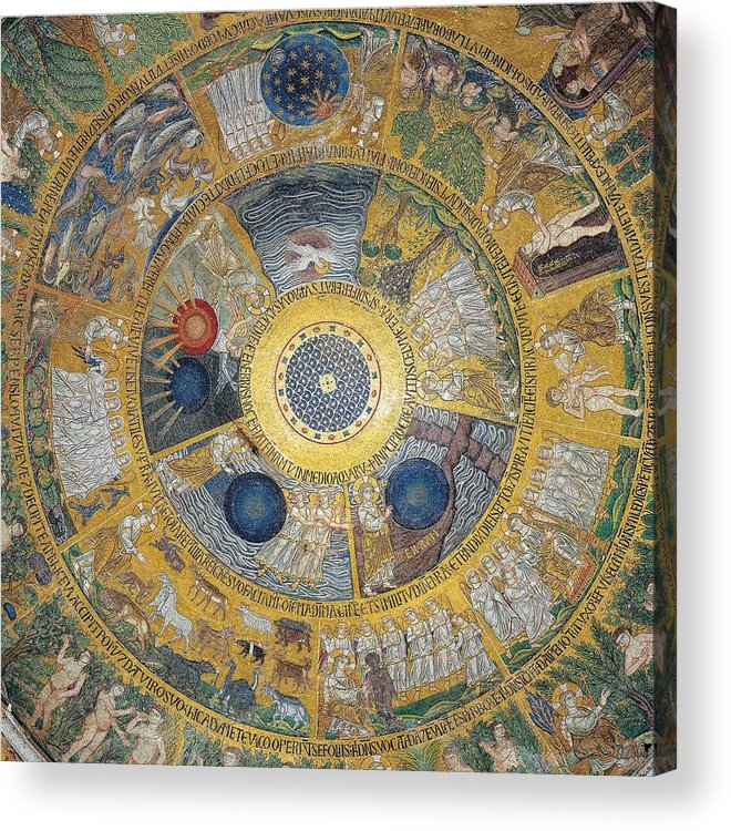 Decoration Acrylic Print featuring the photograph Unknown Artist, Cupola Of The Creation by Everett