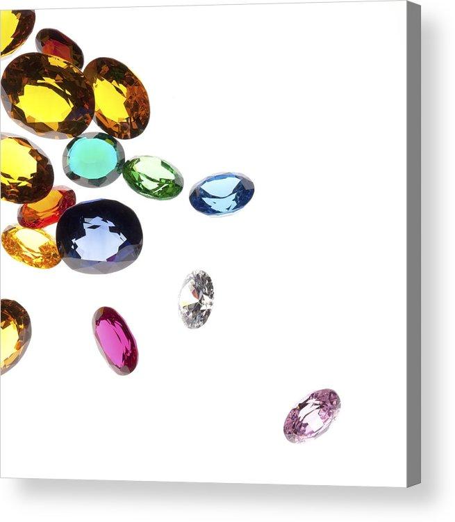 Aquamarine Acrylic Print featuring the photograph Colorful Gems by Setsiri Silapasuwanchai