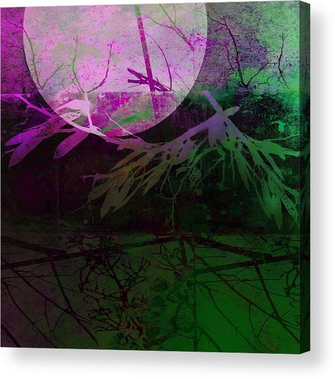Moon Acrylic Print featuring the photograph Purple Moon by Ann Powell