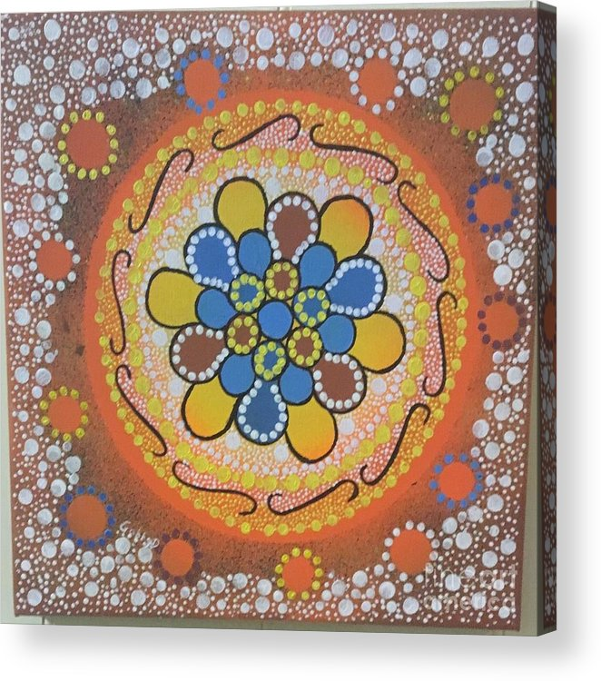 Aboriginal Art Acrylic Print featuring the painting Spring by Rosemary Connors