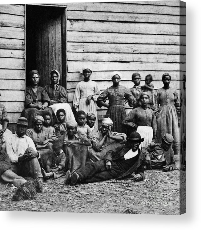 Slavery Acrylic Print featuring the photograph A Group Of Slaves by Photo Researchers