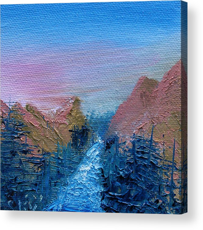 Canyon Acrylic Print featuring the painting A Mighty River Canyon by Jera Sky