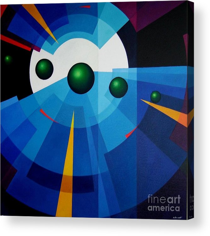 Geometric Abstract Acrylic Print featuring the painting Ab Oculum by Alberto DAssumpcao