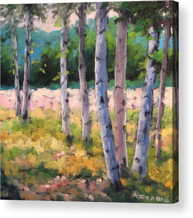 Art Acrylic Print featuring the painting Birches 04 by Richard T Pranke