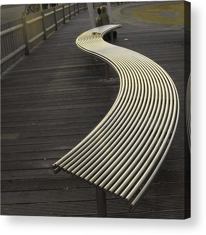 Photograph Acrylic Print featuring the photograph Birdbench by LeeAnn Alexander
