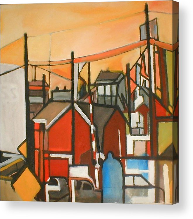 Suburban Acrylic Print featuring the painting Bogota Industrial by Ron Erickson
