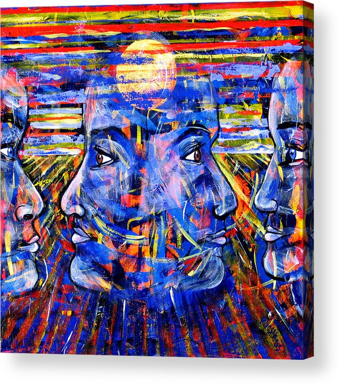 Confrontation Acrylic Print featuring the painting Can Not Live A Lie by Rollin Kocsis