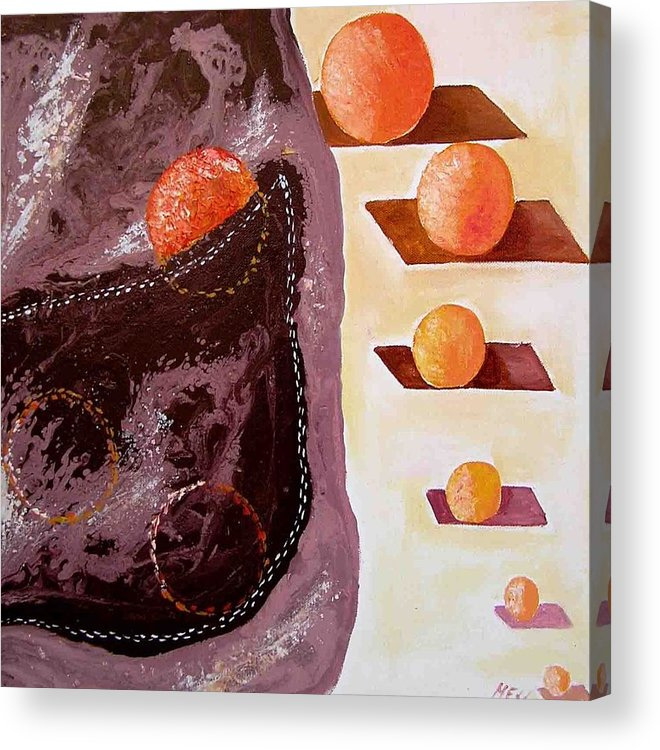 Acrylic Print featuring the painting Chocolate Pocket by Evguenia Men