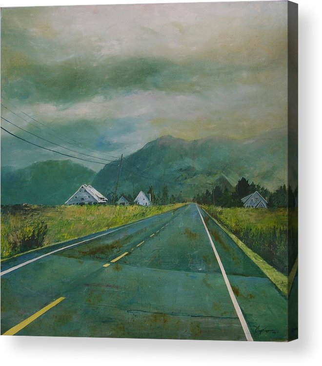 Landscape Acrylic Print featuring the painting Chuckanut Drive by Richard Ong