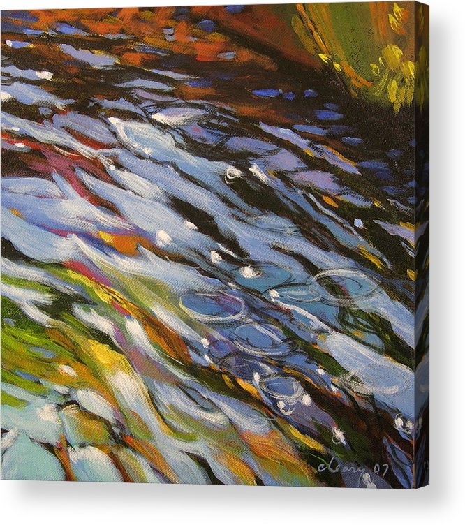 Melody Cleary Acrylic Print featuring the painting Cool Run by Melody Cleary