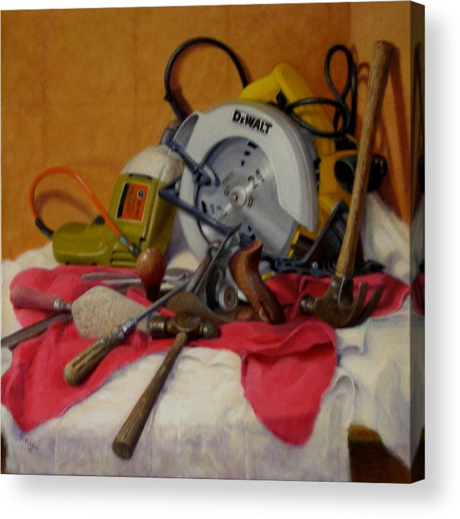Realism Acrylic Print featuring the painting D. I. Y. 1 by Donelli DiMaria