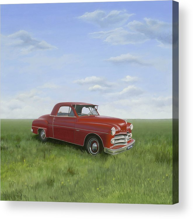 Classic Acrylic Print featuring the painting Dodge by Patricia Van Lubeck