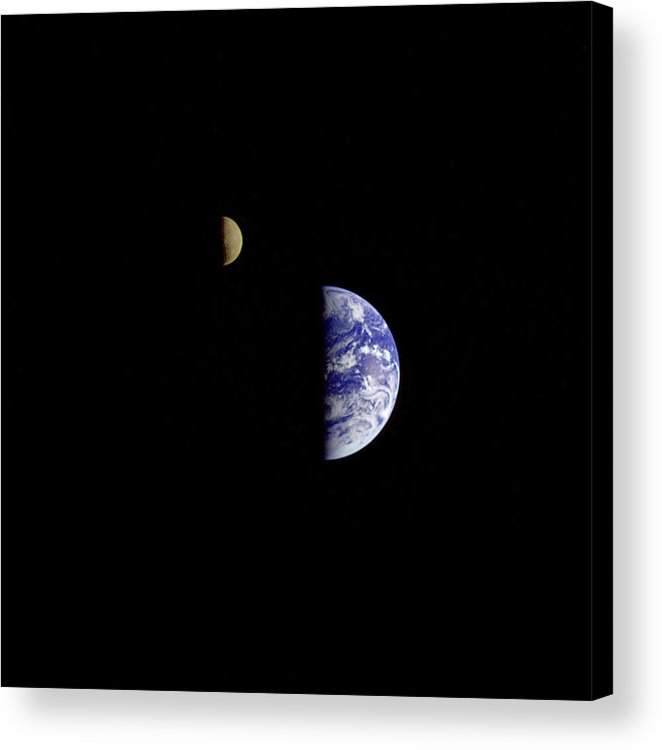 Earth Acrylic Print featuring the photograph Earth From Moon by Aviation Heritage Press