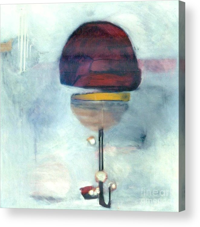 Abstract Acrylic Print featuring the painting Erev Tops Jump Shot by Marlene Burns
