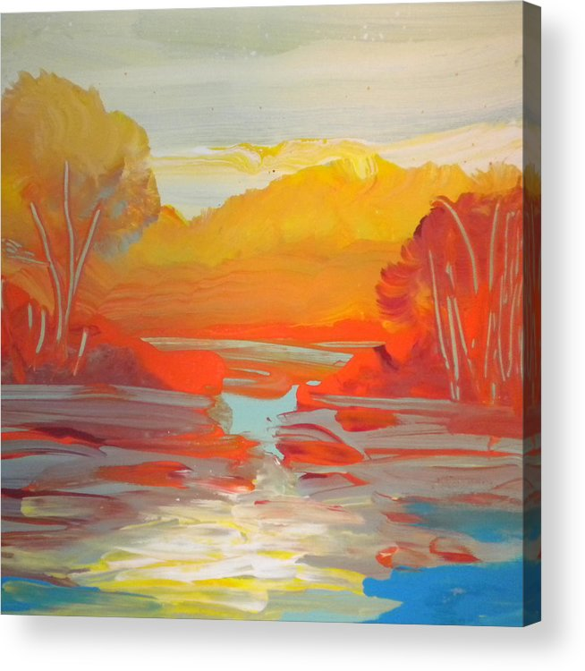 Alzheimer's Acrylic Print featuring the painting Fall Colors by Art Without Boundaries