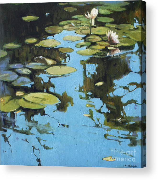 Lin Petershagen Acrylic Print featuring the painting Fresh Water by Lin Petershagen