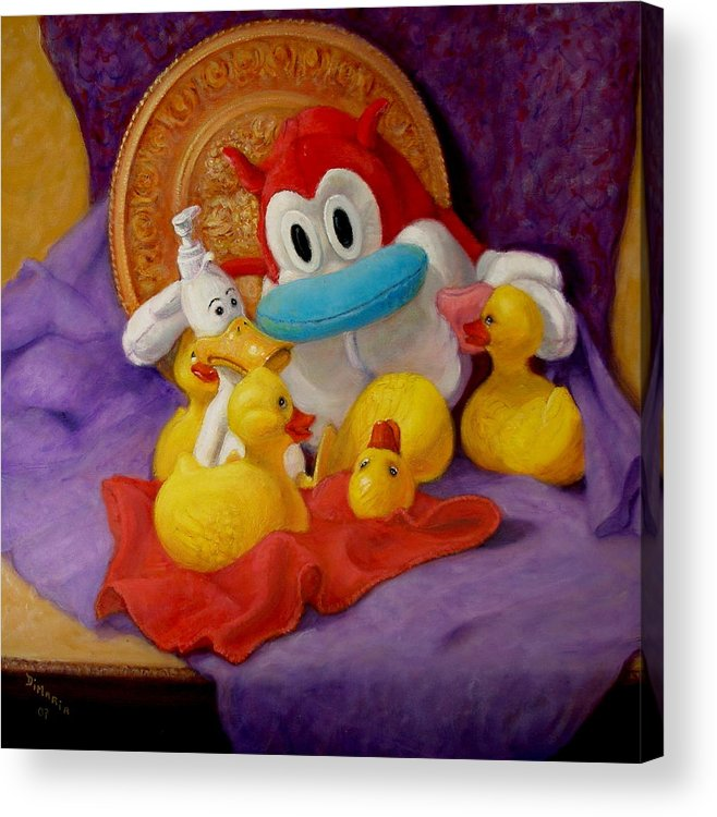 Realism Acrylic Print featuring the painting Friends by Donelli DiMaria