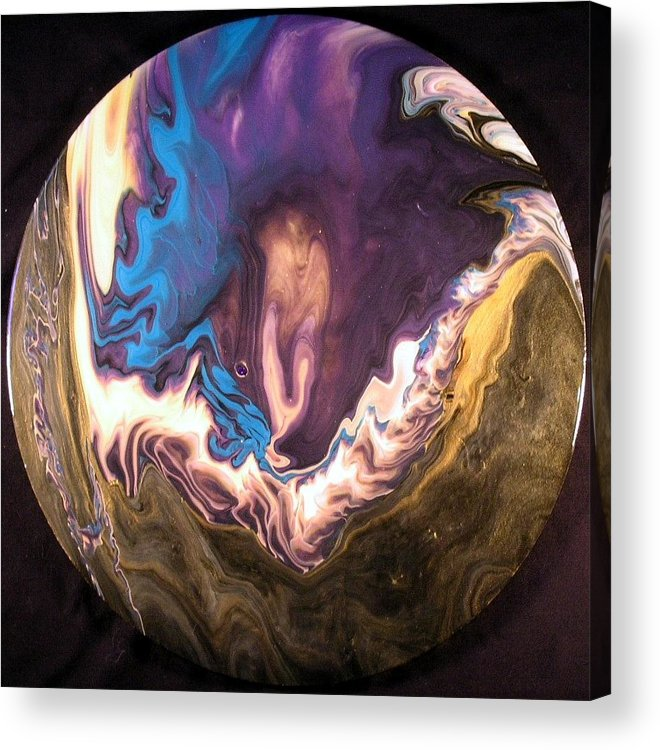 Abstract Acrylic Print featuring the painting Inner Flame by Patrick Mock