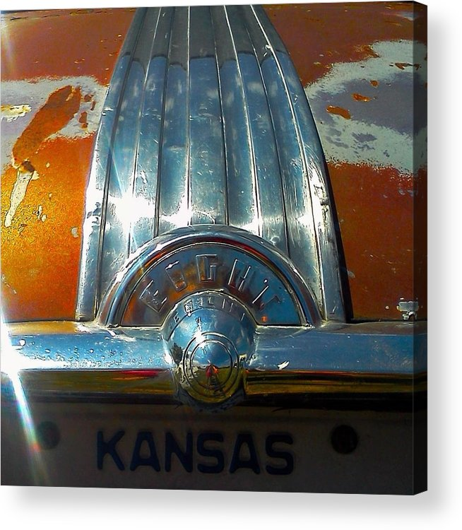 Kansas Acrylic Print featuring the photograph Kansas Plates by Honey Behrens
