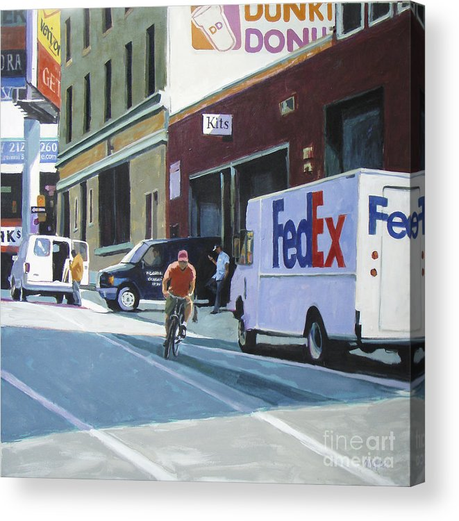Urban Acrylic Print featuring the painting Kits by Patti Mollica