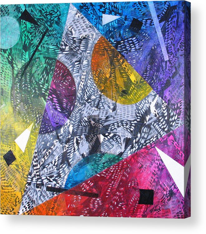 Geometric Acrylic Print featuring the painting Microcosm Xx by Rollin Kocsis