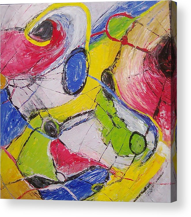 Fantasy Acrylic Print featuring the painting Movement by Anita Dielen