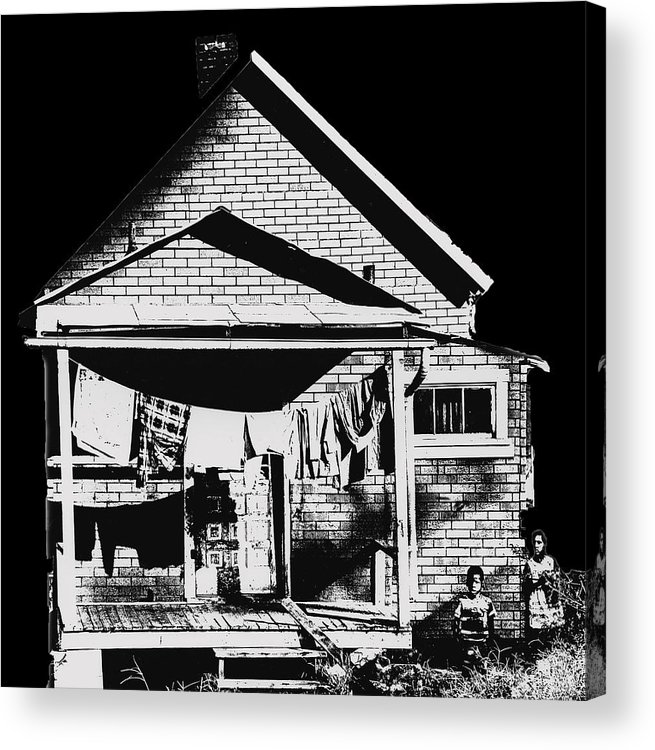 Poor Acrylic Print featuring the photograph Other Side Of America by Don Wolf