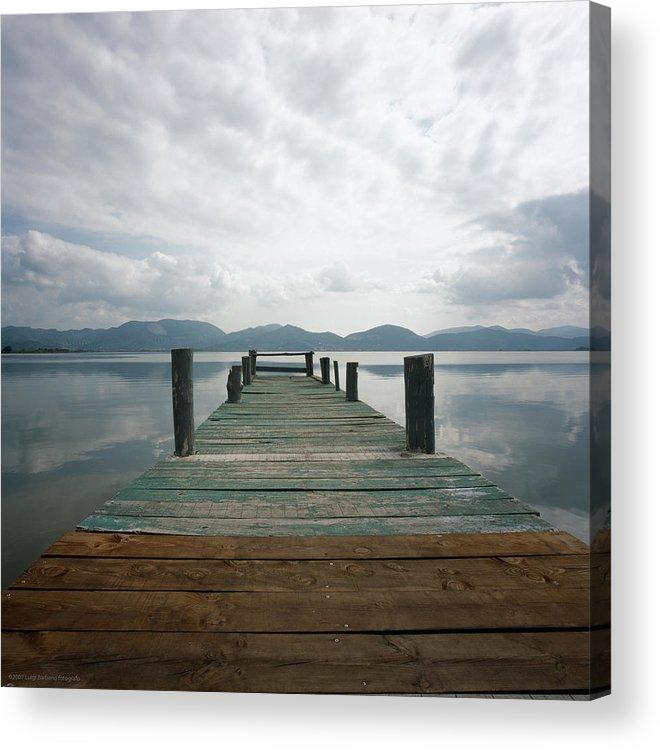 Italy Acrylic Print featuring the photograph Pier by Luigi Barbano BARBANO LLC